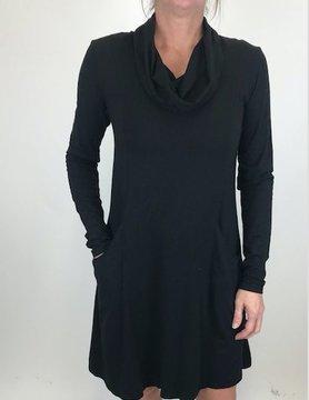 Mod-o-doc Mod-O-Doc Cowl Nk Dress Black