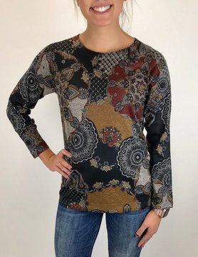 Nally & Millie Nally & Millie L/S Design Top