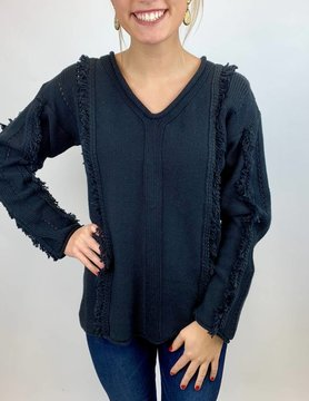 NEON BUDDHA Pure Knit Hibiscus Top Blk
