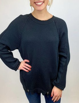 NEON BUDDHA Pure Knit Castleford Top Blk