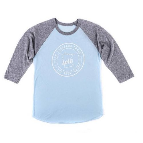 Sota Clothing Sota Clearwater Raglan Ice Blue/Gry