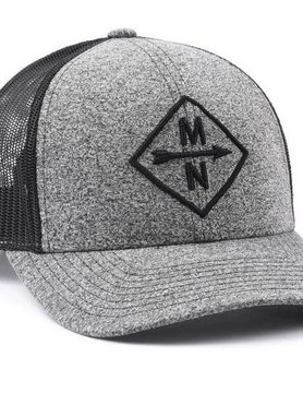 Sota Clothing Sota Charcoal Diamond Snapback Blk/Hthr Blk
