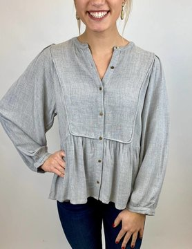 Lucky BRAND Lucky Solid Peasant Hthr Grey