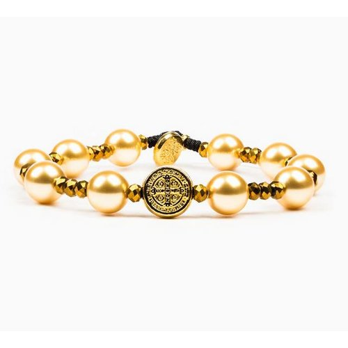My Saint My Hero My Saint My Hero Divine Beauty Beautiful Blessing Bracelet Golden/Gold