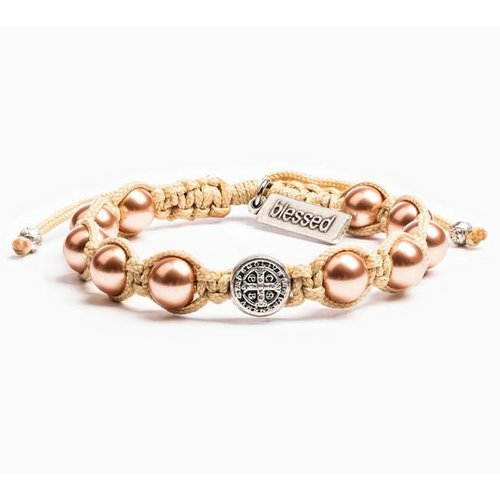 My Saint My Hero My Saint My Hero Divine Blessings Bracelet Cream/Rose Gold