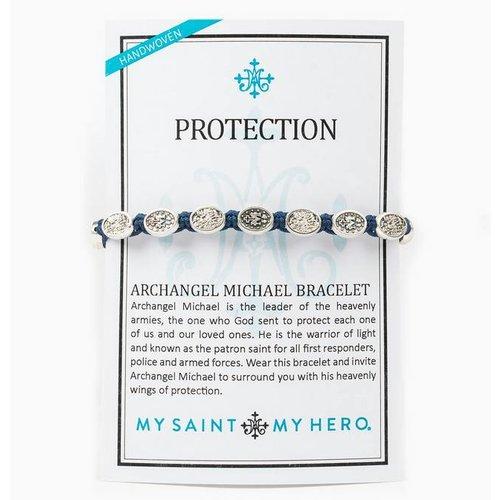 My Saint My Hero My Saint My Hero Protection Archangel M Bracelet Royal/Silv BR00076-S-127