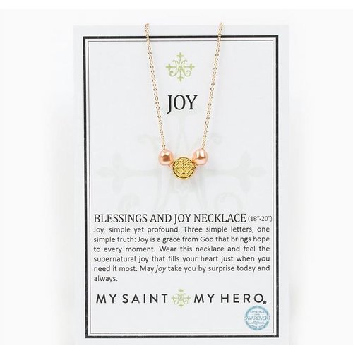 My Saint My Hero My Saint My Hero Blessings and Joy Necklace Rose Gold/Gld NK00049-G-RP