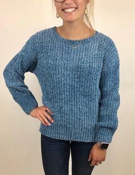 Esqualo Esqualo Chenille Sweater Blue