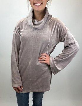 Hem & Thread Hem & Thread Turtleneck Oversize Sleeve Lavender