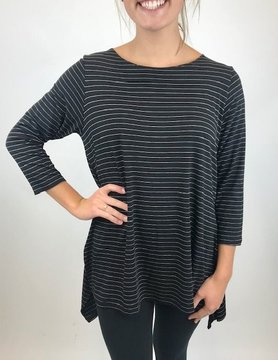 COMFY Comfy Black Pinstripe Top