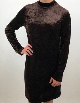 ARYEH Aryeh Mock Neck Velvet Dress