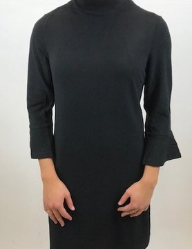 ARYEH Aryeh Mock Neck Shift Dress Black