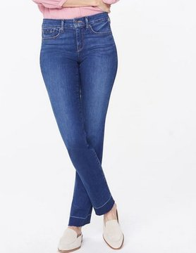 Not Your Daughter Jeans NYDJ Marilyn Release Pkt Hem Muir Wash