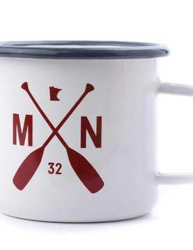 Sota Clothing Sota MN Paddle Campfire Mug White/Red