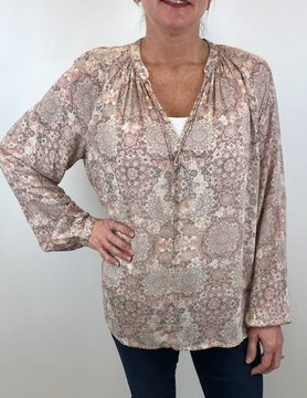 Lucky BRAND Lucky Printed Peasant Pink Multi