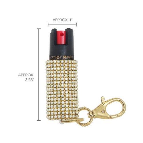 Bling Sting Pepper Spray Rhinestone Gold BS2-GLDG