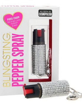Bling Sting Bling Sting Pepper Spray Rhinestone Silver