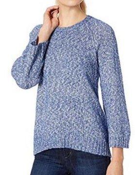 Lilla P Lilla P Denim Vneck Sweater Blue