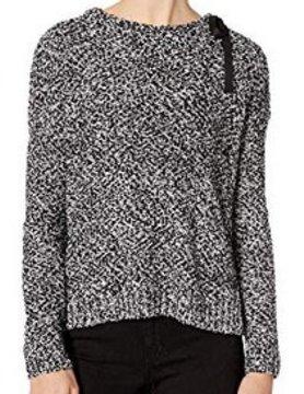 Lilla P Lilla P Tie Collar Sweater Blk Pepper