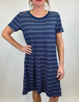 Mod-o-doc Mododoc T Shirt Dress W/Pleat Navy