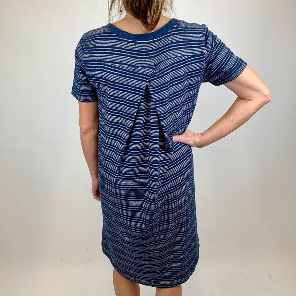 Mod-o-doc Mododoc T Shirt Dress W/Plt Nvy 478-91002