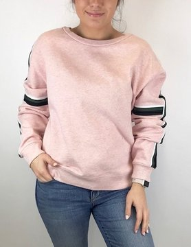 Sanctuary Sanctuary Backtrack Str Sweatshirt Hthr Pink