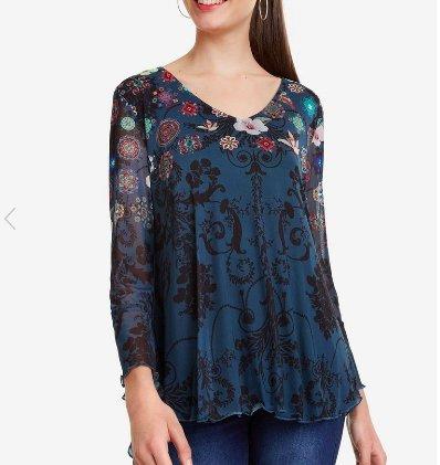 Desigual Desigual Bruce T Shirt Marino 19SWTK82
