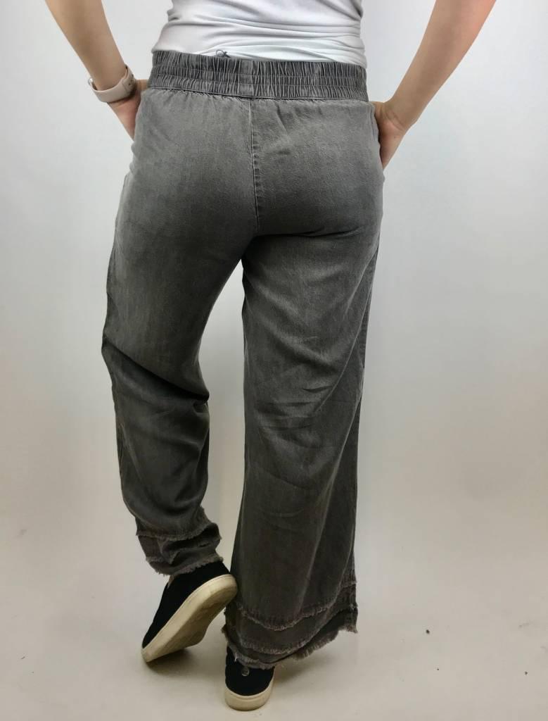 Mod-o-doc Mododoc Crop Pant W/Frnge Gry 478-83705