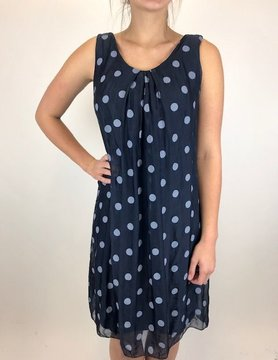 M Made In Italy M Made in Italy Woven S/L Dress Navy