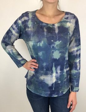 Nally & Millie Nally & Millie Blue Sweater Top
