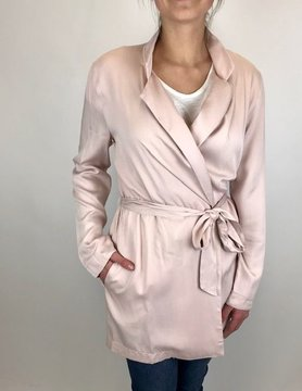 Hem & Thread Hem & Thread Tie Waist Trench Blush