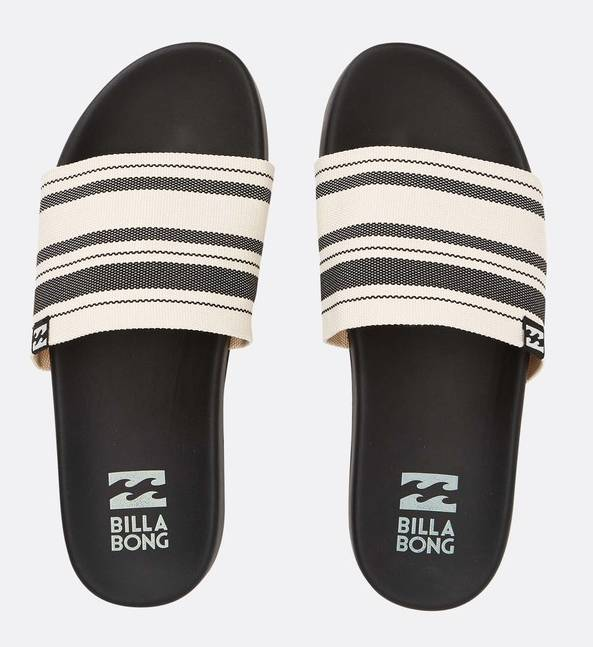 cdab262f9 Billabong Surf Retreat Sandal Black White - The Happy Sol The Rugged Sun