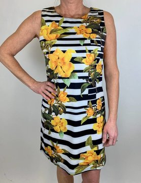 ARYEH Aryeh Printed Dress Black W/Floral