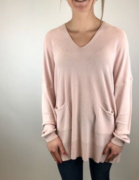 M Made In Italy M Made in Italy Knitted L/S Sweater Pink