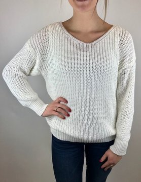 M Made In Italy M Made in Italy Knitted L/S Sweater White