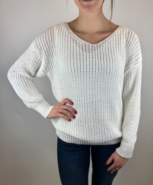 M Made In Italy M Made in Italy Knitted L/S Sweater Wht 33/3099K