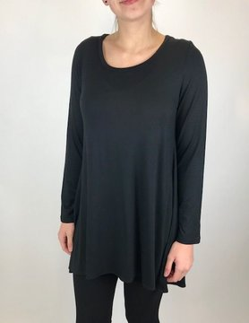 COMFY Comfy Black/Black Flower Back Tunic