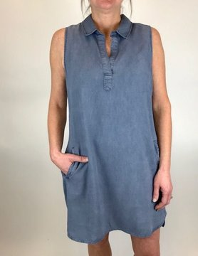 Bella Dahl Bella Dahl S/L A Line Dress Hazy Indigo