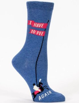BLUE Q Blue Q I Have to Pee...Again Crew Socks SW499