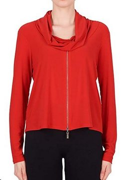 Joseph Ribkoff Joseph Ribkoff Red Zip Top
