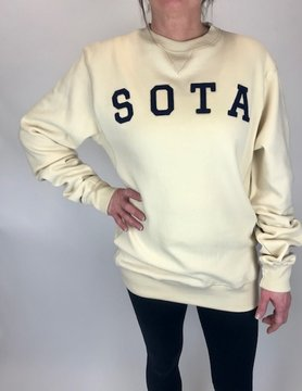 Sota Clothing Sota Highland Crewneck Bone/Nvy