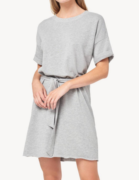 Lilla P Lilla S/S Dress Hthr Grey