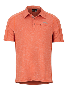 MARMOT Marmot Drake Polo S/S Orange Haze