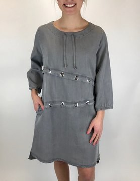NEON BUDDHA Neon Buddha Stroll Dress Vine Grey