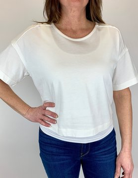 splendid Splendid Short Sleeve Popover Off White