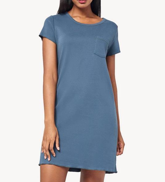 Lilla P Lilla P T Shirt Dress Sharkskin PA0720