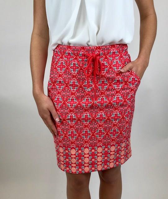 Esqualo Esqualo Skirt Red 30203