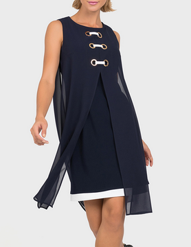 Joseph Ribkoff Joseph Ribkoff LDS Dress Midnight Blue