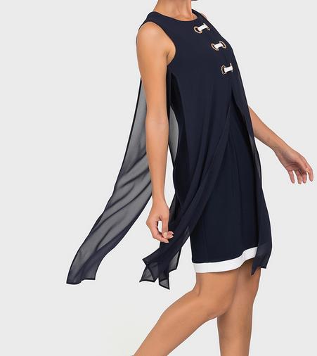 Joseph Ribkoff Joseph Ribkoff LDS Dress Mid Blue 192200