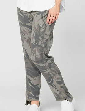 XCVI XCVI Unfinished Edge Pant CANTEEN CAMO